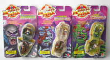 3X RARE VINTAGE 1993 MIGHTY MAX WEREWOLF CORPUS SPIKE HORROR HEADS NEW SEALED !