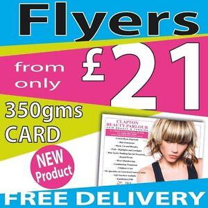 350gms Card Flyers / Leaflets Printed colour on Gloss A3, A4, A5, A6, A7 or DL