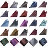 Men's Stylish Floral Paisley Handkerchief Wedding Party Hanky Pocket Square HOT