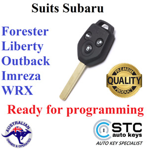 SUITS SUBARU OUTBACK LIBERTY IMPREZA WRX FORESTER REMOTE KEY 2007 - 2014