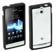 Roxfit Gel Shell Case Cover For The Sony Xperia U Black / Clear