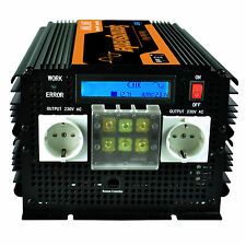 Edecoa inversor onda pura 3500 7000w convertidor 12V a 220V 230V LCD Softstart