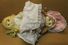 Vtg Alma's Designs Topsy Turvy Doll Grandmother, Fairy God Mother, Young Girl