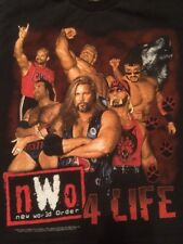 "WCW nWo ""4 LIFE"" T Shirt Youth Large 1999 VINTAGE WWF WWE HALL NASH HULK HOGAN"