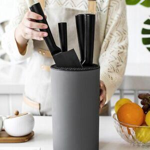 Universal Knife Block Flatware Knife Cutlery Holder Organizer Storage Kitchen