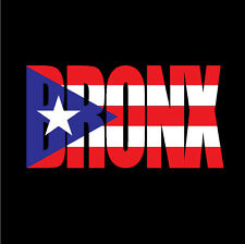 PUERTO RICO CAR DECAL STICKER BRONX letters with Flag  #138
