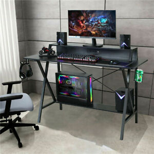 "47"" Gaming Table Computer Desk Laptop PC Study Writing Table W/ USB & Cup Holder"