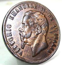 """Vittorio Emanuele II 1867 """"H"""" (10 CENTESIMI)"""
