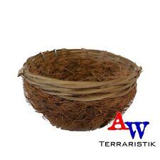 Bambusnest mit Cocosfasern - Vogelnest in 2 Größen - Ø 11x5cm oder Ø 13x6cm