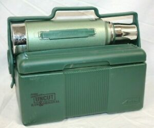 Stanley Heritage 7qt Green Lunchbox & Thermos Set ,Jerry Springer UNCUT logo