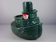 Vintage Ceramic planter Gilner Pixie Elf Tug Boat Captain