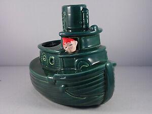 Vintage Ceramic Gilner Pixie Elf Tug Boat Planter