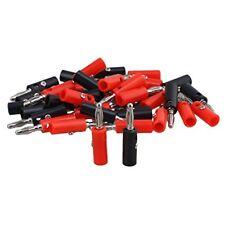 RDEXP 40pcs Nickel Plated 4mm Multimeter Probe Banana Plug Male Screw Type Co...