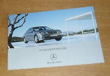 MERCEDES CLASSE E BERLINA Price Guide 2005-E200 E280 E220 E320 CDI E350 E55 AMG