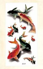 US Seller- 3D gold fish temporary tattoo rub on tattoos for adults
