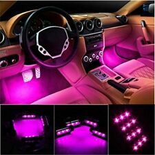 4 x 3 Car Interior Atmosphere Pink LED Light Charge Floor Decor Lamp Accessories