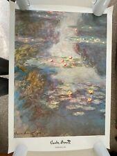 "CLAUDE MONET, ""WATER LILIES,1908"" AUTHENTIC 1992 XL ART PRINT 50,5"" x 35,5"""