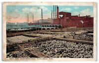 1924 Sheep Pens, Union Stock Yards, South Omaha, NE Postcard