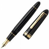 Platinum PRESIDENT Fountain Pen Black Medium Nib PTB-20000P#1-3