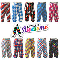 """Royal And Awesome Golf Plus 2's  Sizes 32 - 42 """" Loud And Funky Plus Two Shorts"""