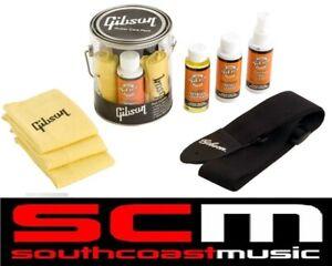 Gibson Bucket Guitar Care Kit G-Carekit Polish Cloths Strap Fret Conditioner