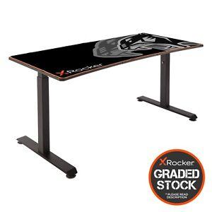 GRADED Height Adjustable Gaming Desk Metal Office X Rocker *READ DESCRIPTION*