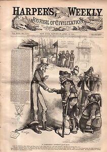 1878 Harper's Weekly April 20 - Uncle Sam's Bad Credit; Navy Gatling gun;Russia