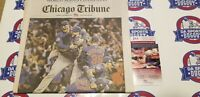 CHICAGO TRIBUNE WORLD SERIES CHICAGO CUBS 2016 SIGNED by Montgomery and Coghlan