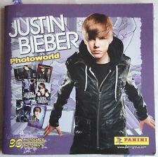 ALBUM FIGURINE JUSTIN BIEBER CARD PANINI PHOTOCARD 2011 PERFETTO COMPLETO
