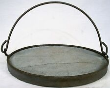 ANTIQUE HANGIN COWBOY CAMP FIRE WOOD STOVE CAST IRON CONCRETE PIE WARMER TRIVET