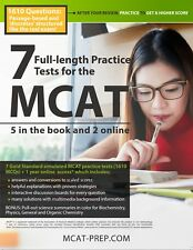 7 Full-length MCAT Practice Tests: 5 in the Book and 2 Online, 2019-2020 Ed.