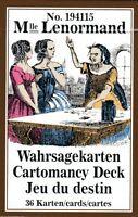 Mlle LENORMAND No 194115 - Wahrsagekarten / Cartomancy Deck / Jeu du destin