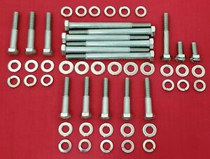 BBF FORD 429 460 WATER PUMP TIMING COVER BOLTS KIT STAINLESS STEEL HEX SET