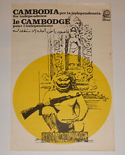 1974 Cuban Political Poster.Plakat.Affiche.affisch.Solidarity with Cambodia