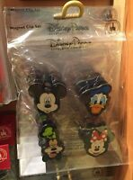 Disney Parks Mickey Donald Duck Goofy Minnie Mouse Lenticular Magnet Clip Set