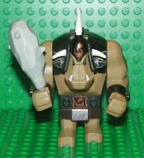 LEGO 7097 - Fantasy Era Troll Dark Tan with Black Armor & Club - MINI FIGURE