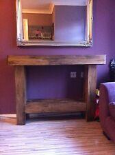 HANDMADE CHUNKY SOLID/SLEEPER RUSTIC DISTRESSED NATURAL WOOD SIDEBOARD TABLE