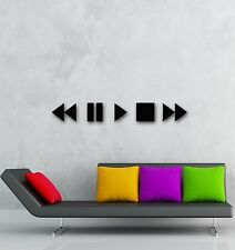 Wall Stickers Vinyl Decal Audio Video Button Modern Home Decor (ig983)
