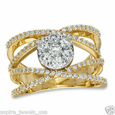 1.00 CT BRILLIANT CUT SOLITAIRE DIAMOND RING 14KT SOLID YELLOW GOLD