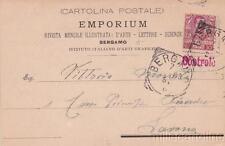 * BERGAMO - Testatina Pubblicitaria Rivista Illustrata Emporium 1903