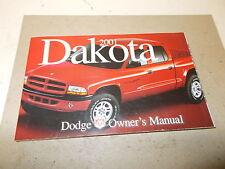 Mopar NOS Owners Manual 2001 Dodge Dakota