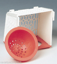 Calidad superior fuera de plástico Nido Pan & Soporte para canarios y pinzones