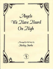 ANGELS WE HAVE HEARD ON HIGH, Christmas Music for Lever or Pedal Harp and Voice