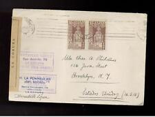 1937 La Coruna Spain Censored civil war cover to USA