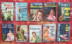 Vintage Paperback Lot of 10 ~ Pulp Crime GGA Dell/Pocket Books, It Ain't Hay