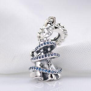 New Genuine Pandora Disney Cinderella Magical Moment Dangle Charm Blue