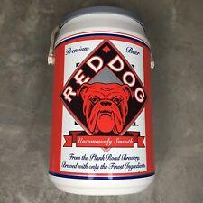 New listing Red Dog Beer 90s Vtg 1995 Advertising Can Cooler Handled Beach Kooler Kraft