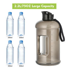 Sport Water Bottle Capacity 2.2L Leakproof Giant Container BPA Carrying Loop gym