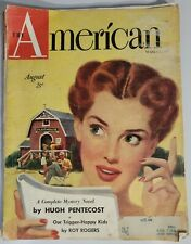 The American Magazine August 1949 Pabst Schlitz Gilbey's General Motors Ads
