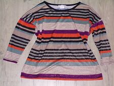 JUS D'ORANGE PARIS PULL / HAUT  pour FEMME MULTICOLORE BRILLANT T 3 44 / 46 TBE